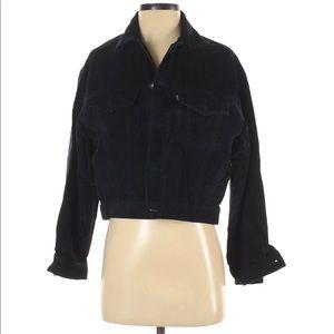 Blue button down jacket